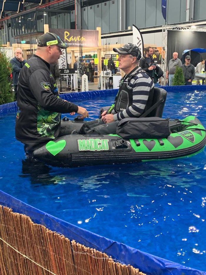 Bellyboatbad op de Hengelsport- en Visbotenbeurs in Utrecht