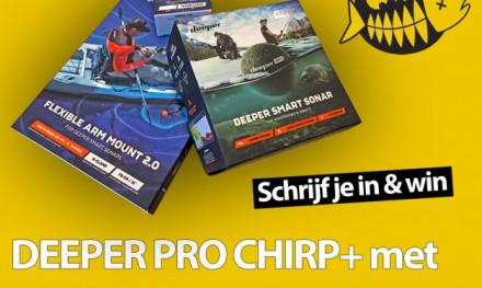 WIN een DEEPER Pro Chirp+ met bootsteun t.w.v. €365,-